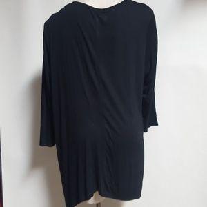 e58ff08c391 Simply Emma Tops - Simply Emma Black shark Bite tunic Shirt